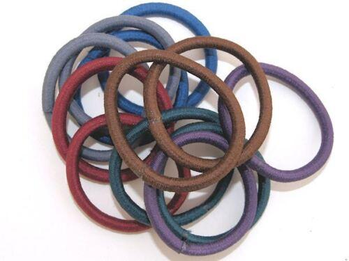 Dark Colour Snag Free  Hair Elastics Hair Bands Bobbles No Metal