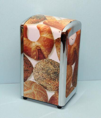 Serviettenspender Servietten Spender Tischspender mit Motiv Brötchen Frühstück