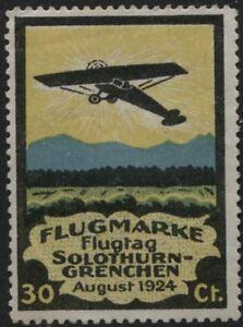 Svizzera-1924-Posta-Aerea-Erinnofilo-nuovo-MH