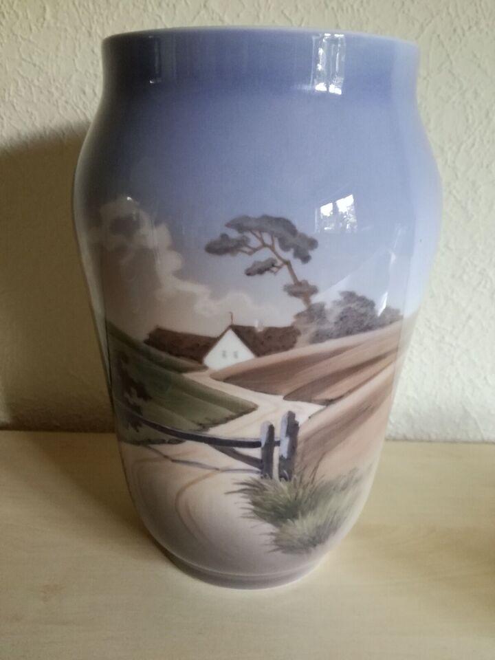 Porcelæn, Stor vase 26 cm høj, Royal Copenhagen
