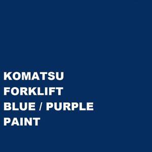 KOMATSU FORKLIFT BLUE PURPLE Paint Machinery Enamel paint Brush or Spray 1000ml
