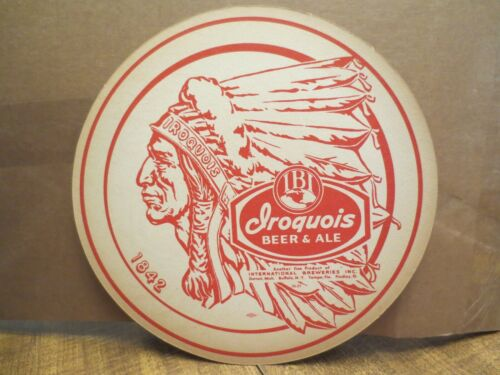 Late 1950/'s IROQUOIS BEER /& ALE LARGE DOUBLE-SIDED COASTER