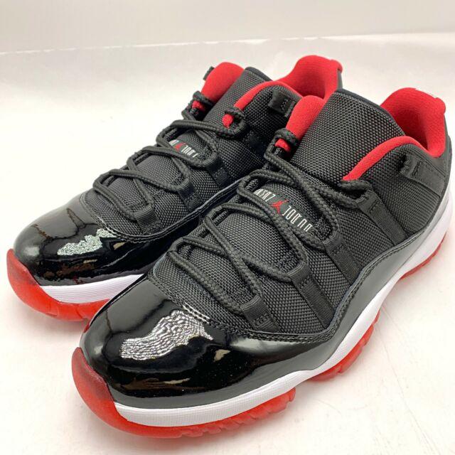 Nike Air Jordan 11 Retro Xi Low Bred Black University Red 528895
