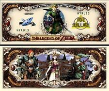 La LEGENDE de ZELDA . Million Dollar USA . Billet de commémoration / Collection