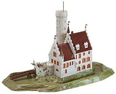 NEW ! N scale Faller CASTLE with Moat : Building KIT # 232242  Model Railroad