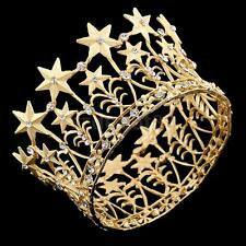 """Luxury Gold or Silver Color Metal Crown with Crystals 3"""" Cake Topper Home Decor"""