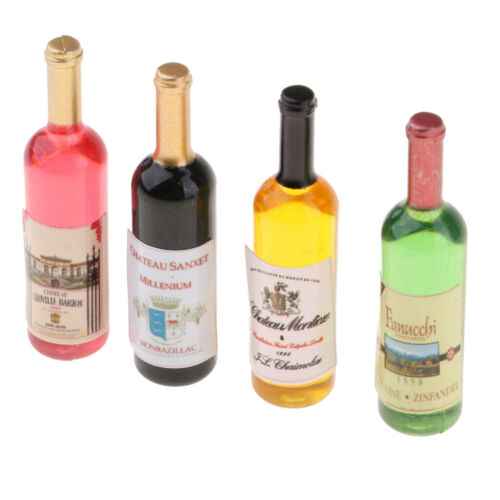 3x 1:12 Scale Drink Bottles Doll House Pub Dining Room Decoration Accessory