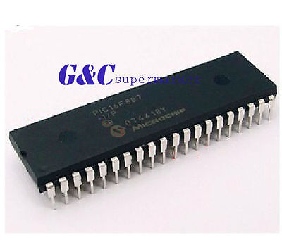 10PCS PIC16F887-I/P PIC16F887 DIP40  MICROCHIP IC NEW GOOD QUALITY