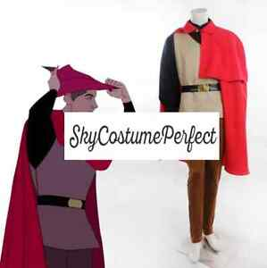 Image is loading Sleeping-Beauty-Prince-Phillip-woods-suit-costume-cosplay-  sc 1 st  eBay : prince philip costume  - Germanpascual.Com