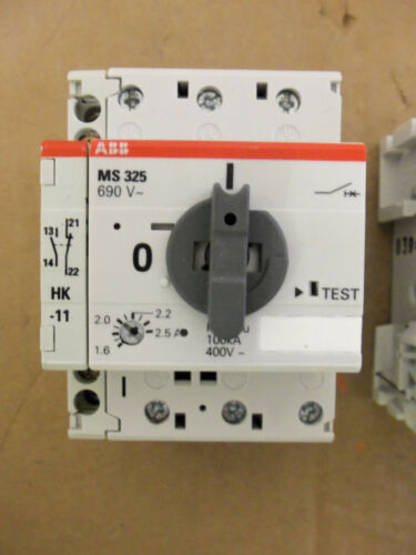 ABB MS 325 MS325 690 V Manual Motor Starter 3 pole with auxilary contact HK-11