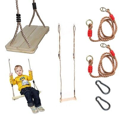 CLASSIC PINE WOODEN TREE SWING - PP ROPE - BRANCH HEIGHT 2.5M - 3M