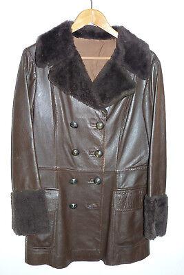 Das Beste Vintage Ledermantel, Mantel, Leder, Hippie, True Vintage, 70er Jahre, Gr. 38/40