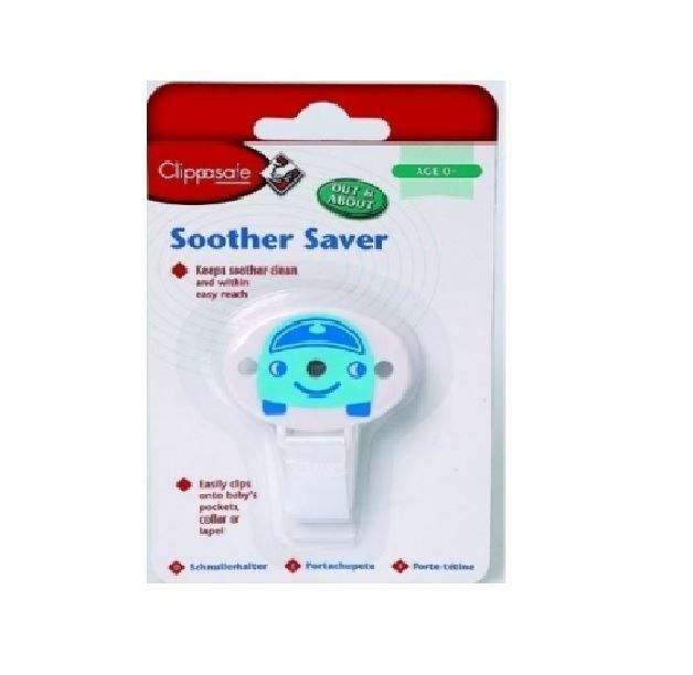 BRAND NEW IN PACK CLIPPASAFE DUMMIES PACIFIERS SOOTHER SAVER IN BLUE