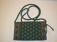 VERA BRADLEY CLASSIC GREEN VELCRO TRI FOLD WALLET ORGANIZER PURSE RETIRED VERY N