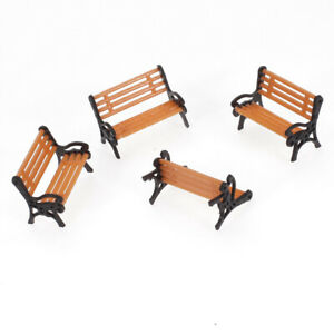 5pcs-Modele-Banc-Chaise-Canape-Train-Plate-Forme-Jardin-Parc-Paysage-OO-HO