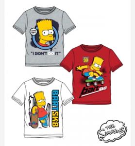 Boys-Kids-Children-The-Simpsons-Bart-Short-Sleeve-Tee-T-Shirt-Top-age-8-12-years