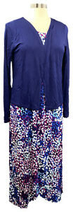 CAROLE-HOCHMAN-blue-abstract-floral-sleeveless-knit-maxi-w-cardigan-wrap
