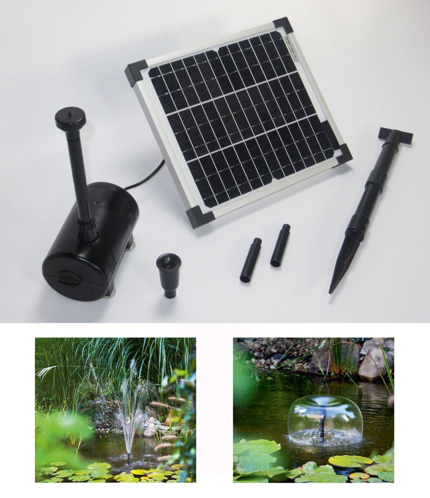 10 W SOLARE POMPA PER LAGHETTO Pompa Solare Pompa per laghetto immergo Stagno Giardino Giardino pumpenset