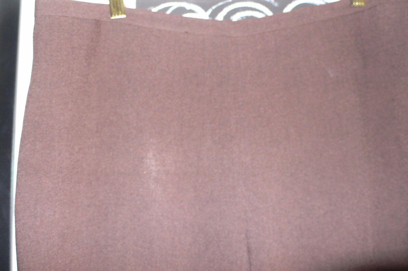 Rena Lange marked size 16 brown unlined triacetate blend side zip pants