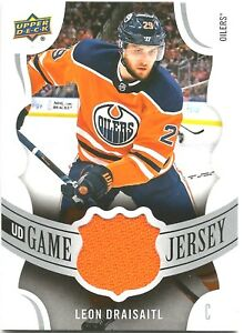 on sale 00c41 9ed18 Details about 2018-19 UD SERIES 1 #GJ-LD LEON DRAISAITL GAME JERSEY CARD  EDMONTON OILERS