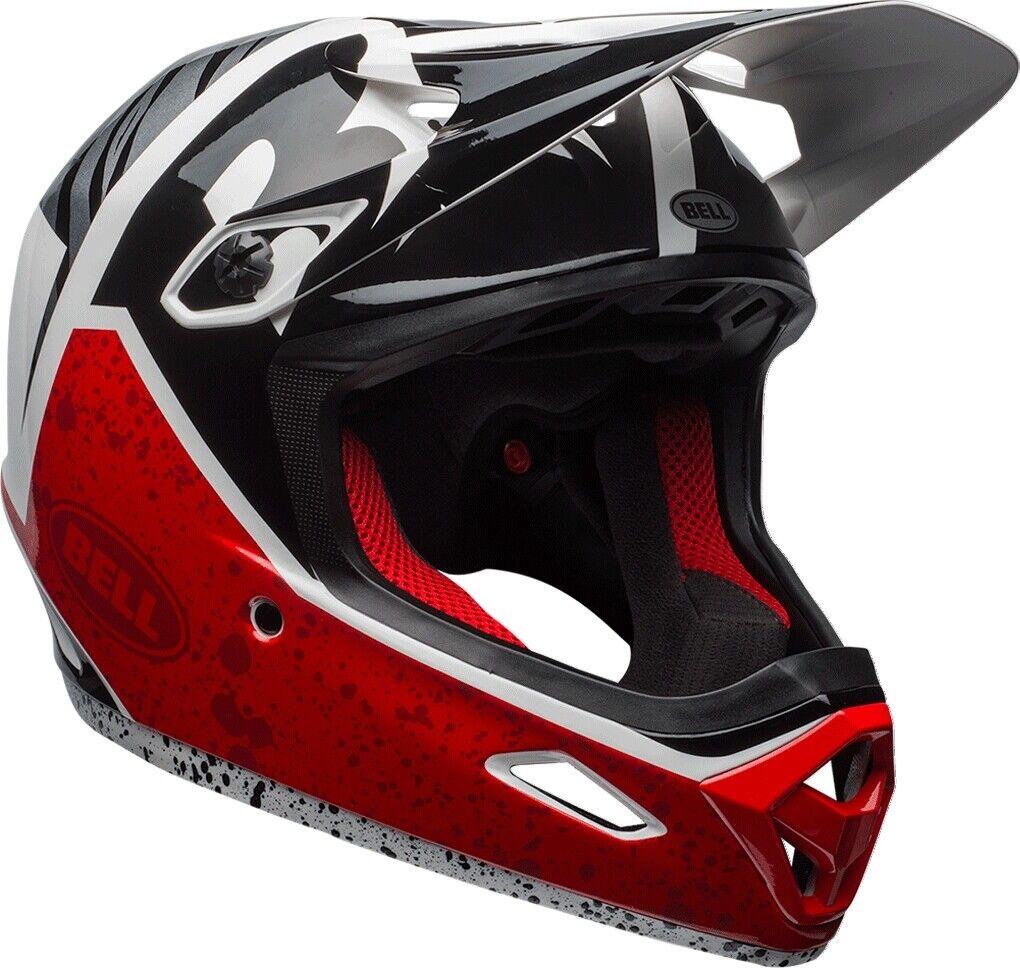 Bell Transfer-9 Full Face MTB   BMX Helmet Matt White   Red