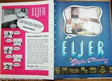 1946 eljer bathroom kitchen plumbing fixtures sink units tubs toilet vtg catalog - Eljer Kitchen Sinks