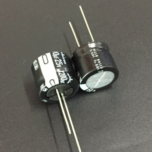 5pcs 1200uF 25V Nichicon HE  25V1200uF Super Low Impdance Capacitor 18X16mm