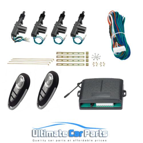 Kit de conversión de Bloqueo de Puerta Central Remoto Universal Fit todos los coches 2 o 4 puertas UK
