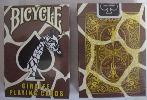 Rare Bicycle Giraffe Deck Playing Cards Skin Back Design Brown Yellow White
