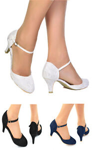 WOMENS-LACE-LOW-KITTEN-HEEL-FULL-TOE-STRAPPY-BRIDAL-WEDDING-SHOES-SIZES-3-8