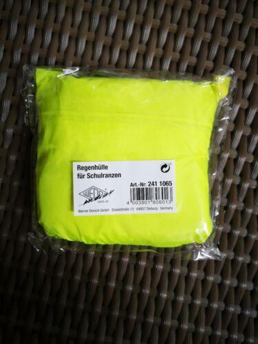 Wedo  Regenhülle für Schulranzen gelb Regenschutz Tornister Schulanfang Ranzen