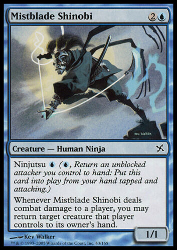 MISTBLADE SHINOBI MTG Betrayers of Kamigawa Common Creature