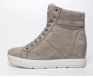 d4ad259c1ceb Prada 3TZ050 Women s Suede Grey High Top Wedge Ankle Boots 6141 Size ...