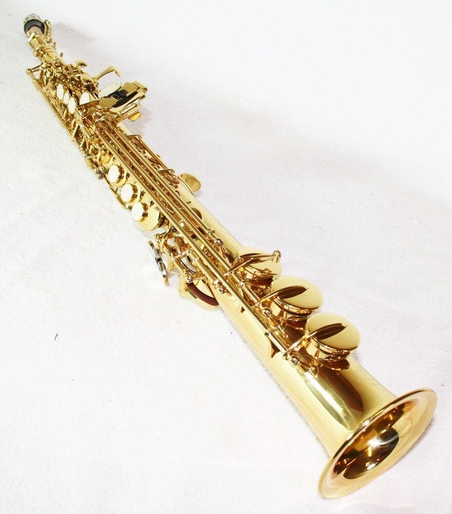 Nuovo  Soprano Sassofono oro + Custodia & Accessori 6433l