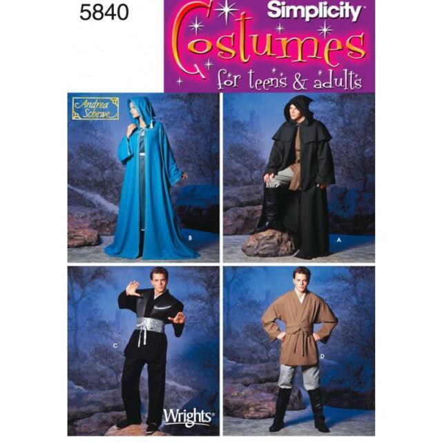 Simplicity Schnittmuster 5840 ein Kostüm für Damen Herren und ...