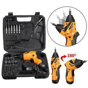 Cordless-Electric-Screwdriver-Set-w-45pcs-Bit-Drill-Driver-Tool-Kit-Rechargeable