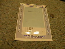 Microscale decals N 60-4080 UP 12,500 gall tank cars 0-50-6 1955+ scheme  E46