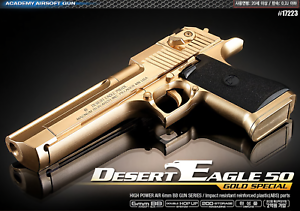 [ACADEMY] DESERT EAGLE 50 gold SPECIAL 17223 Airsoft Pistol BB Power Gun 6mm Toy