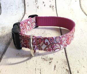 Dog-Collar-Paisley-Pattern-Design-Unusual-Funky-Pet-Supply-Xmas-Gift-Handmade
