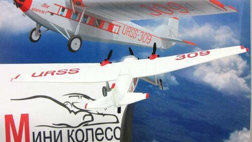 Tupolev ANT-9 Soviet Passager avion année 1931 échelle 1//160 Modèle Avec Support