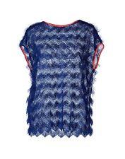 MSGM Blue fringe sweater NWT sz4 40IT Small Italy