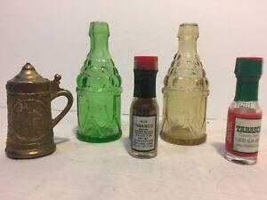WHEATON-Miniature-Bottles-TABASCO-Miniatures-Metal-Tankard-For-SHADOWBOX