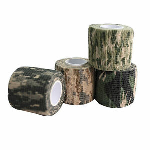 Nastro-adesivo-mimetico-non-tessuto-WRAP-RIFLE-GUN-Caccia-Camo-Stealth-Tape-GYCM