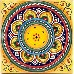 Italian Ceramic Tile Deruta Yellow