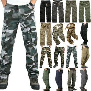 zum halben Preis kostenloser Versand klassische Schuhe Details zu Herren Cargo Hose Army Style Cargohose Outdoor Lang Arbeitshosen  Lang Cargohose
