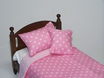 Maison de poupées Matelas Simple /& D/'Oreiller échelle 1:12 chambre à coucher accessoire lit literie