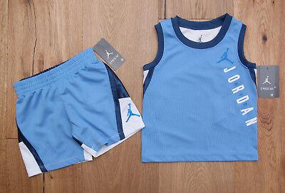 NWT Nike Infant Girls Jordan Jumpman 2 PC Set Tank Shorts Pink Blue 12M 24M