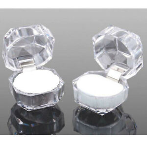 40pcs-Wholesale-Mixed-Plastic-Crystal-Lots-Jewelry-Ring-Display-Boxes-White-New