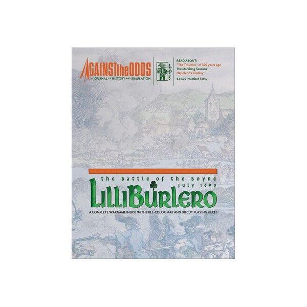 AGAINST THE ODDS - BOARD BOARD BOARD WARGAME - LILLIBURLERO, THE BATTLE OF THE BOYNE 1690 d24098