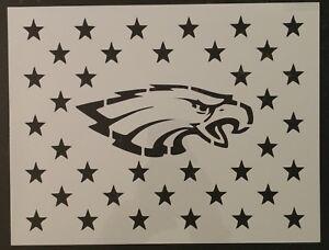 Philadelphia Eagles Flag Star Stars 11 X 8 5 Custom Stencil Fast